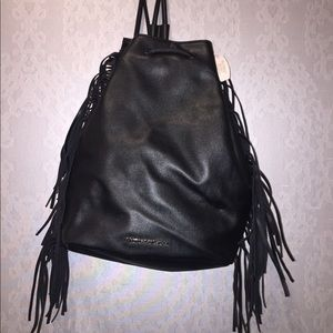 NWT Victoria Secret leather backpack with fringe